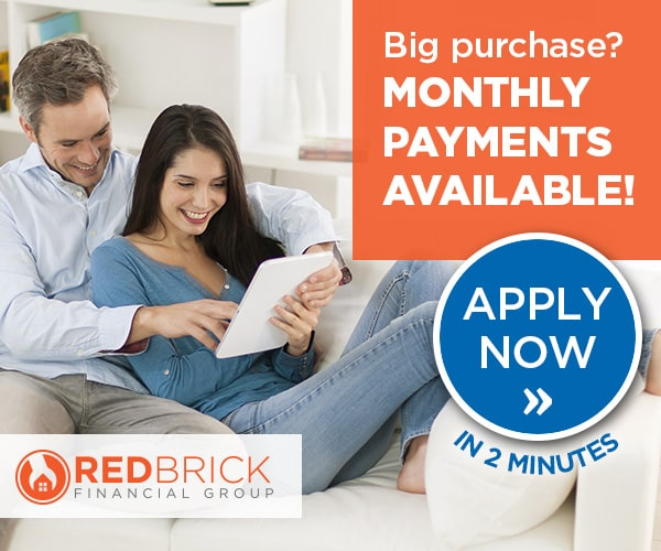 Heating financing and Cooling financing options available with RedBrick Financial, apply now!